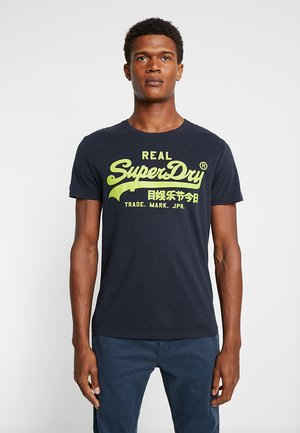 VINTAGE LOGO LITE TEE - Print T-shirt - eclipse navy