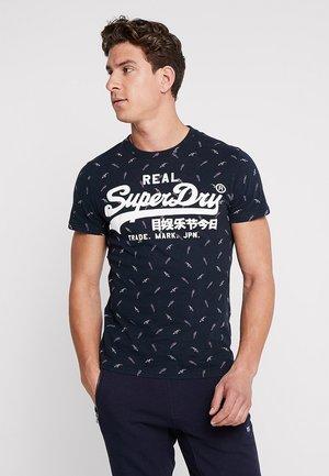 VINTAGE LOGO MID TEE - T-shirt imprimé - eclipse navy