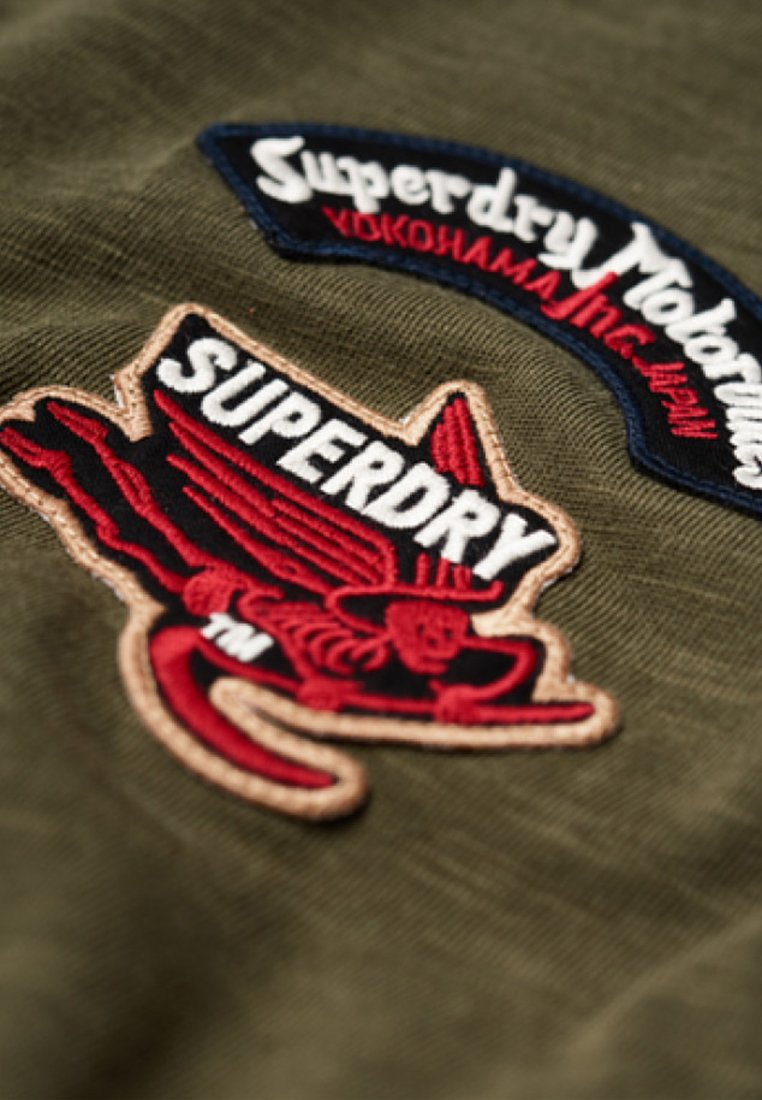 Imprimé Motor TeeT Green Superdry Patch shirt v7If6yYgmb