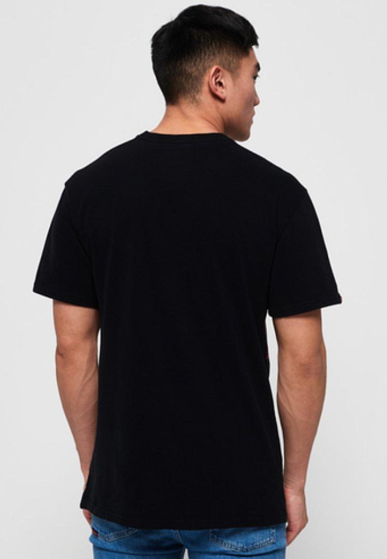 shirt Black Imprimé Ticket TypeT Superdry 1lKFcJ