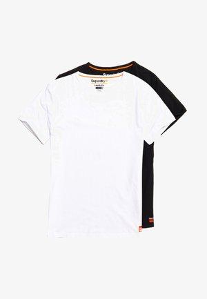 2 PACK - T-shirt basic - laundry white / laundry black
