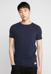 Superdry - 2 PACK - T-shirts - laundry navy/laundry black feeder - 1