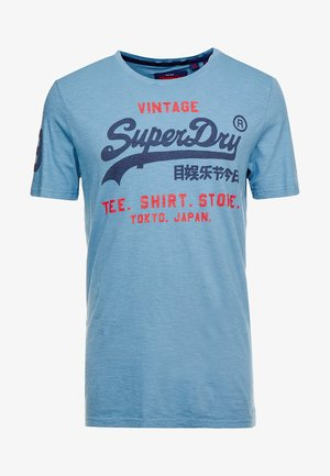 SHOP DUO MID TEE - T-shirt print - antique blue