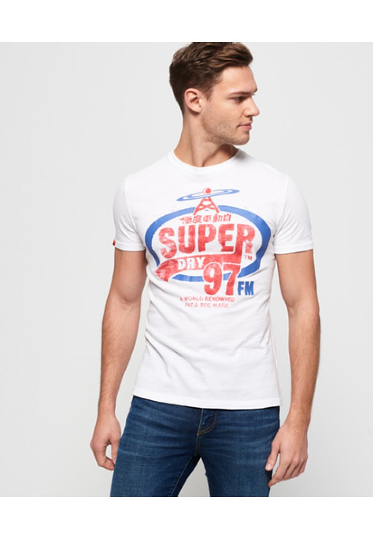 Con Superdry Stampa HeritageT Let White shirt luF1Kc5TJ3
