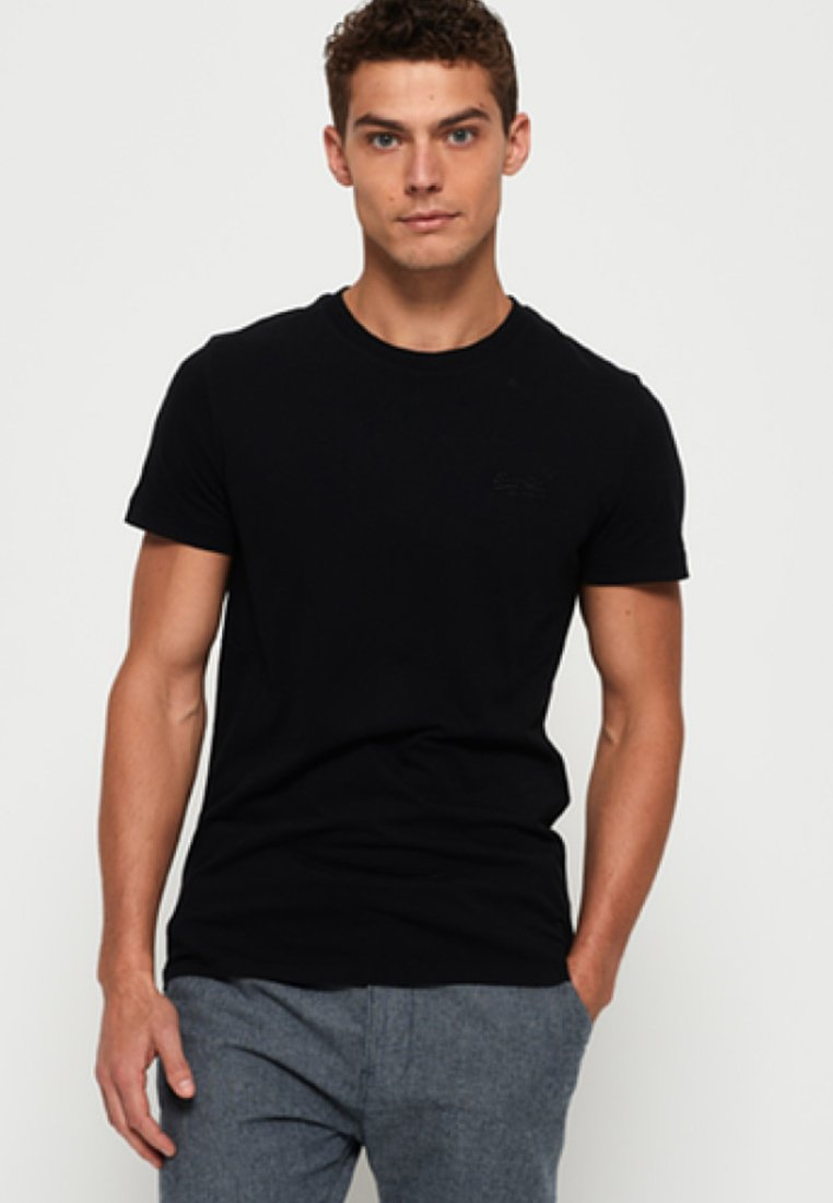 Superdry - ORANGE LABEL - T-shirt basique - black