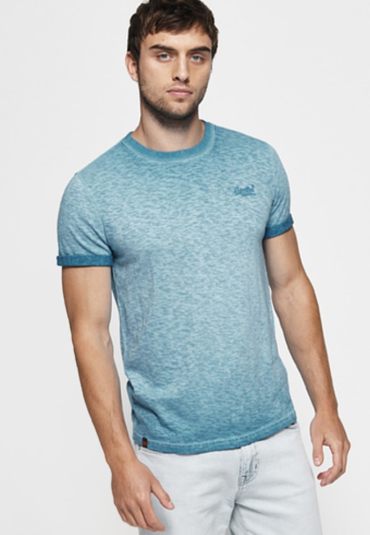 Superdry - LOW ROLLER - Print T-shirt - deep turquoise