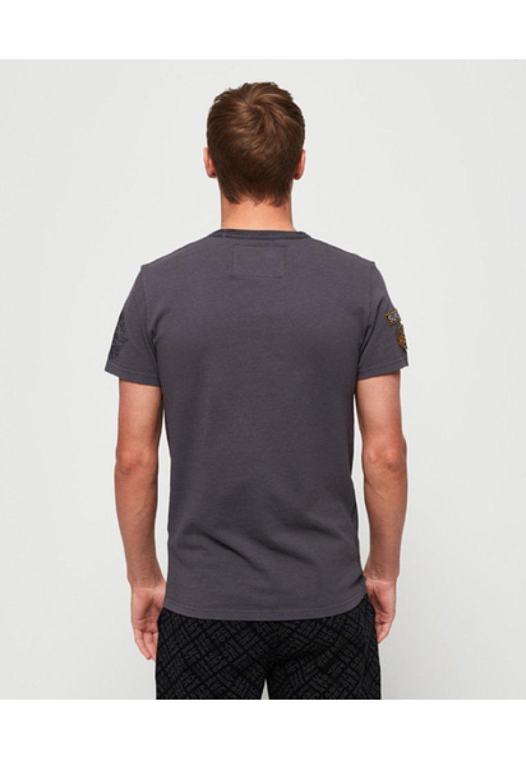 Superdry Gray Work shirt WearT Imprimé Premium c4q35jSARL