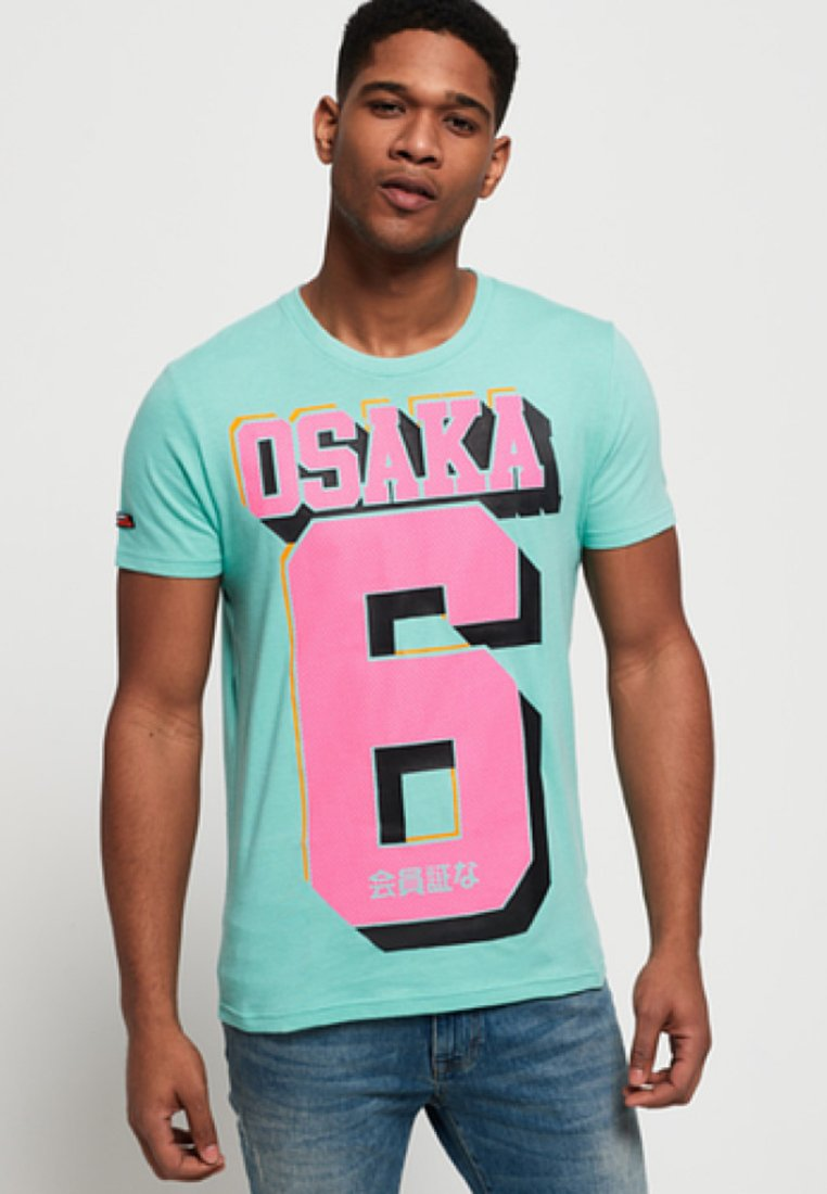 Imprimé Blue Superdry shirt Pool OsakaT yfbY76g