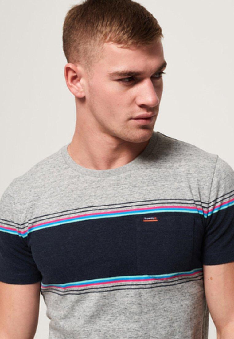 Superdry Orange Label - T-shirt imprimé - mottled medium grey