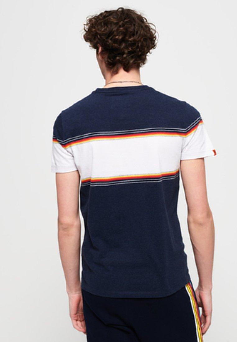 shirt Orange Royal Superdry LabelT Imprimé Blue eWrdxoBC