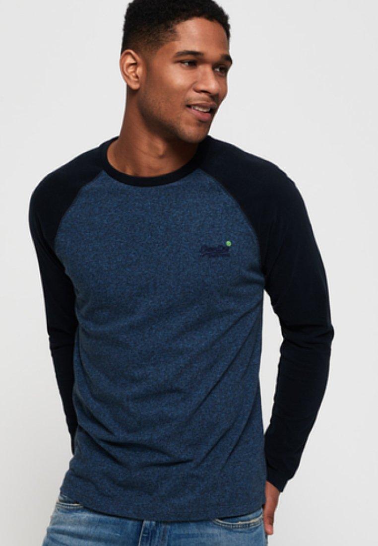 Manches À Blue Longues Superdry Orange LabelT shirt iPXukOTwZl
