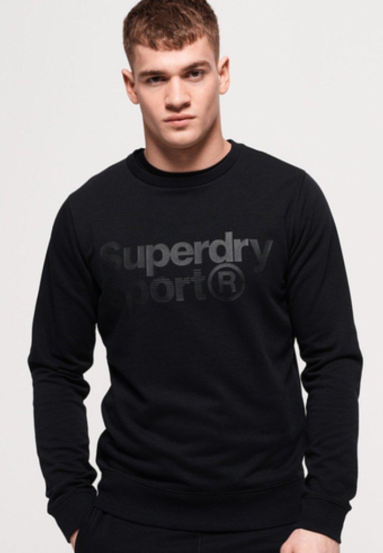 Superdry - MIT RUNDHALSAUSSCHNITT - Sweatshirt - black