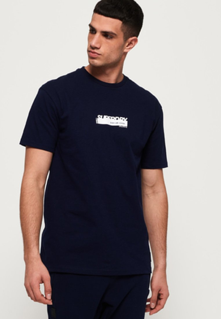 Superdry - BLACK LABEL EDITION  - T-Shirt print - navy blue