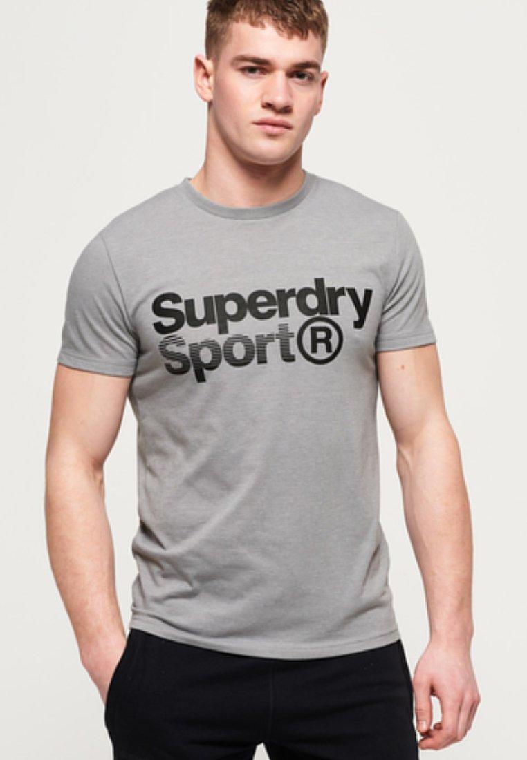 Superdry - MIT GRAFIK - T-Shirt print - mottled in light gray