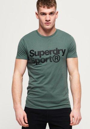 MIT GRAFIK - Print T-shirt - cool olive