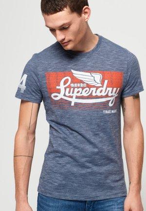 Print T-shirt - haze blue