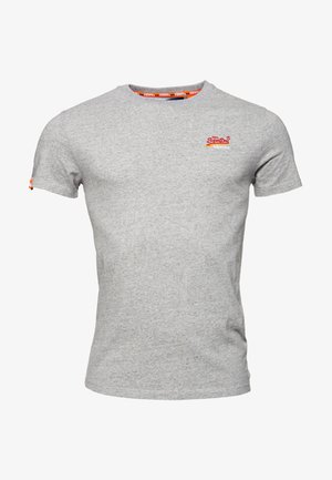 MIT STICKEREI AUS DER ORANGE LABEL KOLLEKTION - T-shirt basique - pumice stein meliert