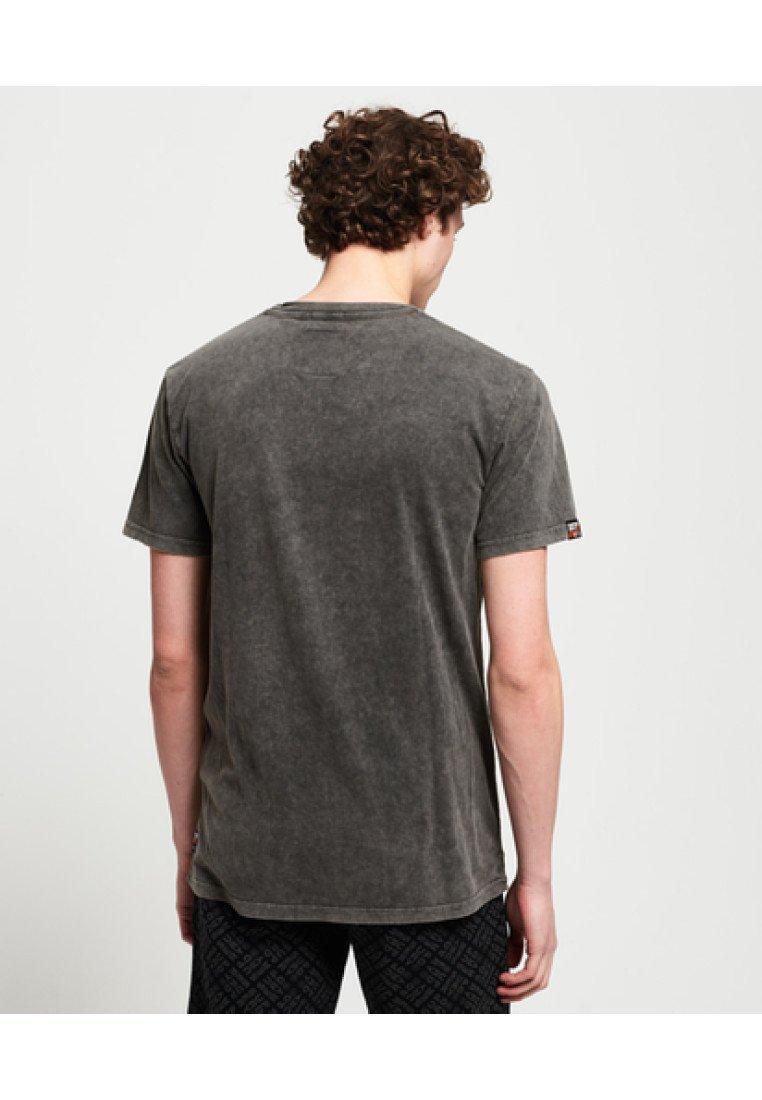 Washed Imprimé Black Superdry Kastenförmiges GoodsT Surplus shirt wOPkXZiTu