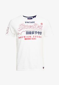 Superdry - PREMIUM GOODS OUTLINE TEE - Printtipaita - white - 4