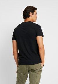 Superdry - RETRO SPORT TEE - Print T-shirt - black/silver - 2