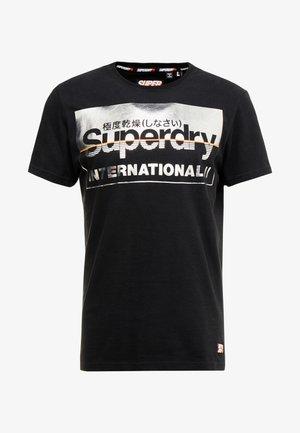 RETRO SPORT TEE - T-shirt print - black/silver