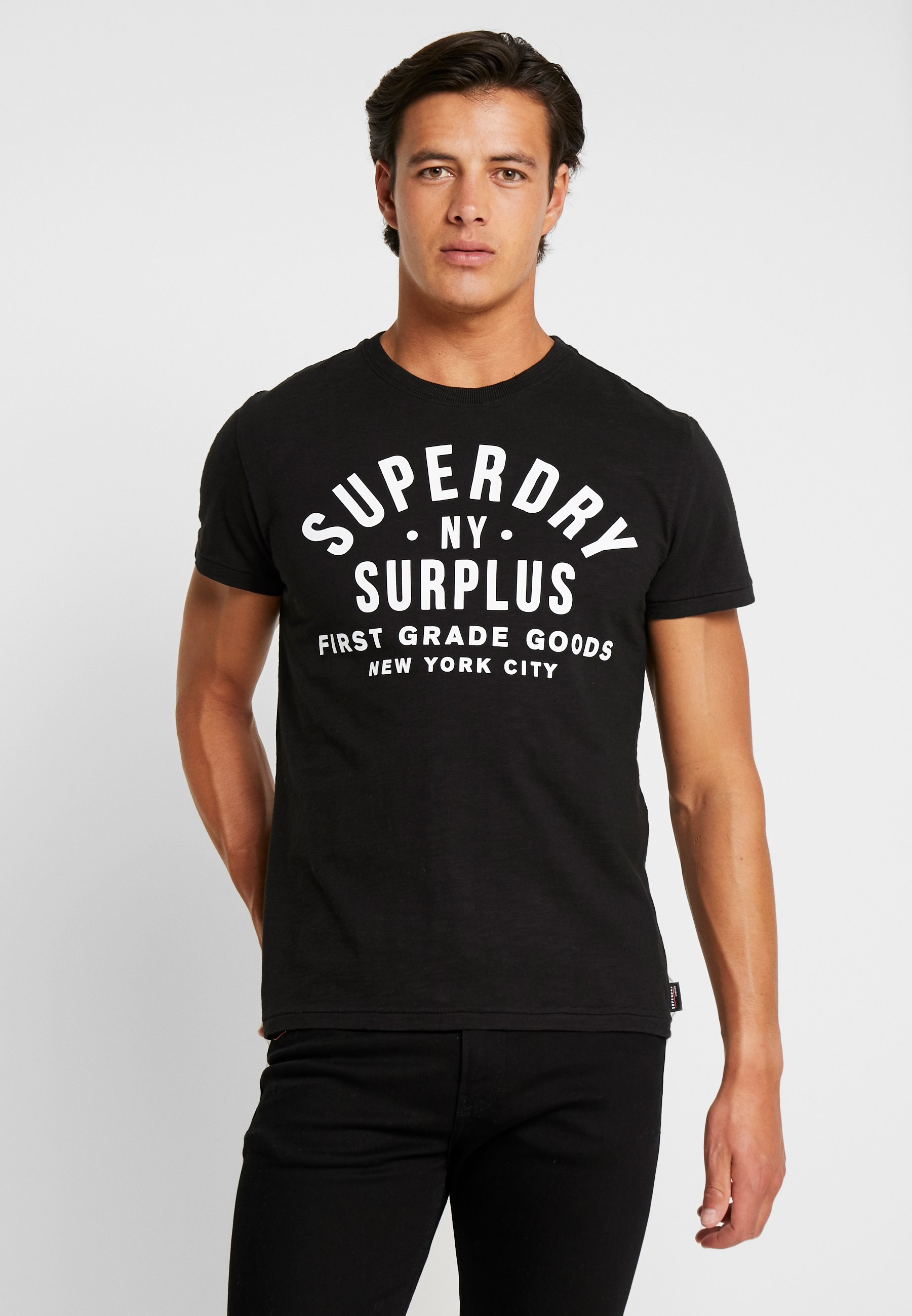 TeeT Jet shirt Imprimé Goods Superdry Surplus Black hsQtrd