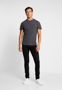 Superdry - VINTAGE EMBROIDERY TEE - T-shirt print - nordic charcoal marl - 1
