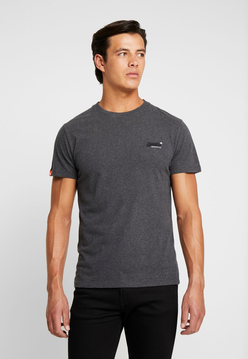 Superdry - VINTAGE EMBROIDERY TEE - T-shirt print - nordic charcoal marl