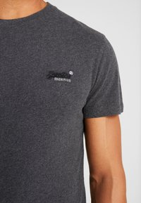 Superdry - VINTAGE EMBROIDERY TEE - T-shirt print - nordic charcoal marl - 5