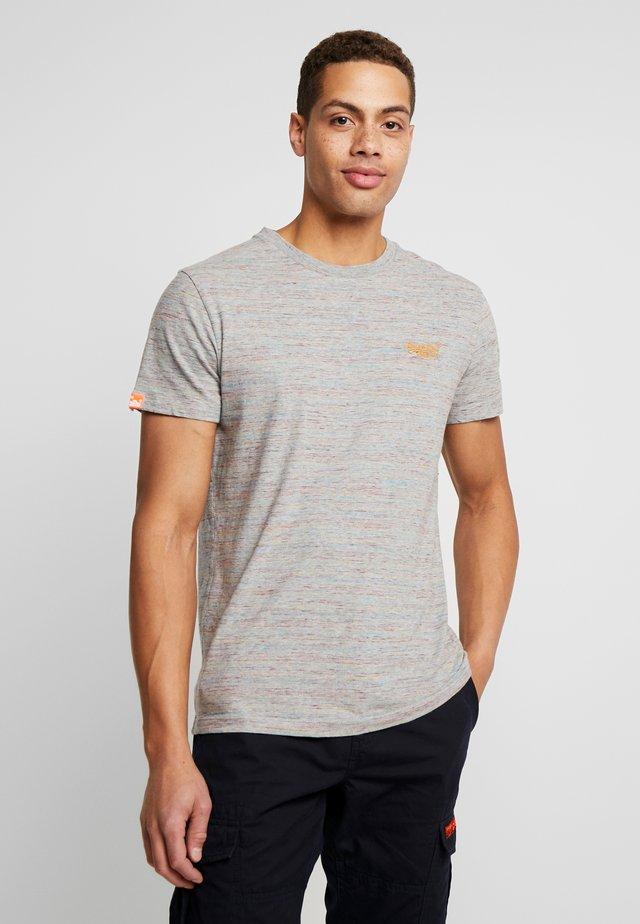 VINTAGE EMBROIDERY TEE - T-shirt print - rainbow grey space dye