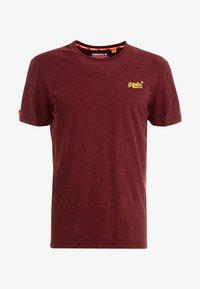 Superdry - VINTAGE EMBROIDERY TEE - T-shirt print - buck burgundy marl - 4