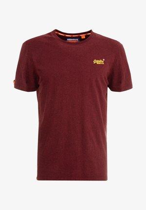 VINTAGE EMBROIDERY TEE - T-shirt z nadrukiem - buck burgundy marl