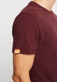 Superdry - VINTAGE EMBROIDERY TEE - T-shirt print - buck burgundy marl - 3