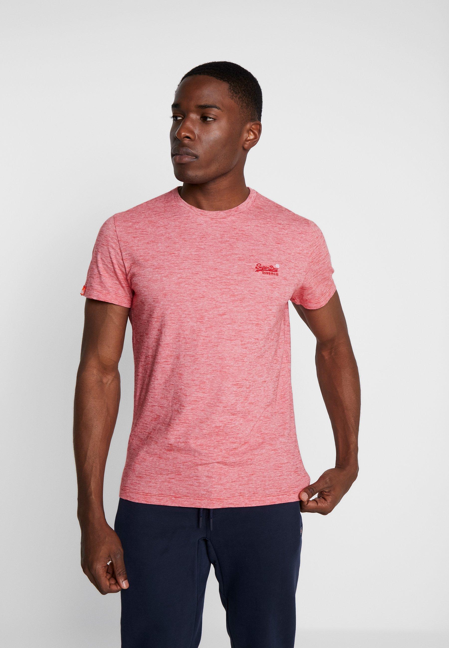 Superdry VINTAGE EMBROIDERY TEE - T-shirt z nadrukiem - apple red space dye feeder