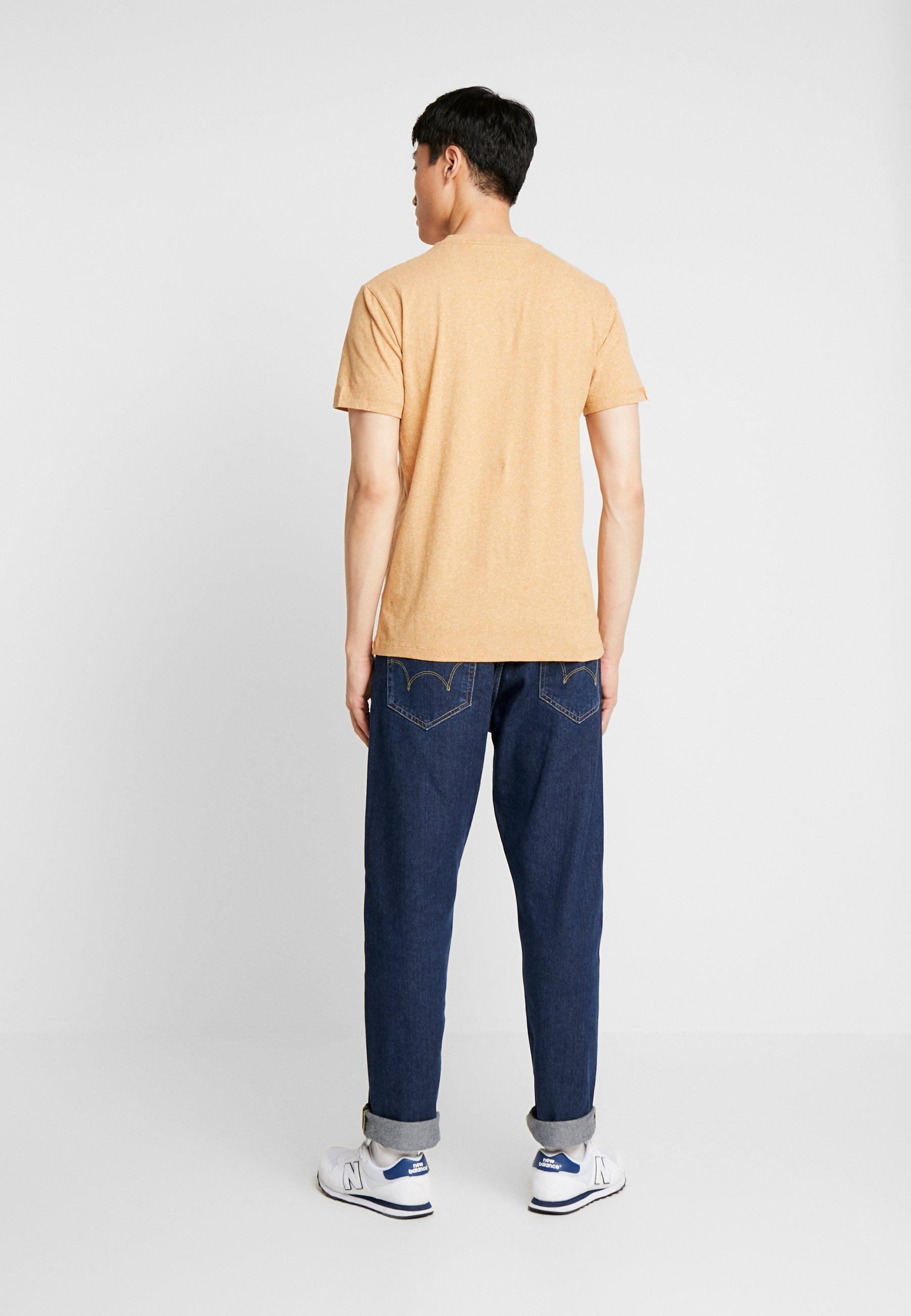 Superdry VINTAGE EMBROIDERY TEE - T-shirt z nadrukiem - burnt gold grit