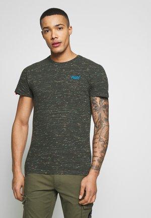 T-shirt basic - desert drab space dye
