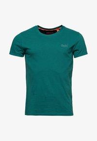 Superdry - LEKKI  - T-shirt basic - gasoline green - 5