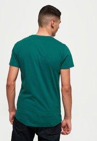 Superdry - LEKKI  - T-shirt basic - gasoline green - 2