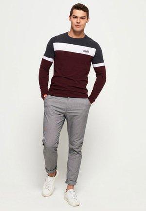 ORANGE LABEL - Long sleeved top - minted burgundy red