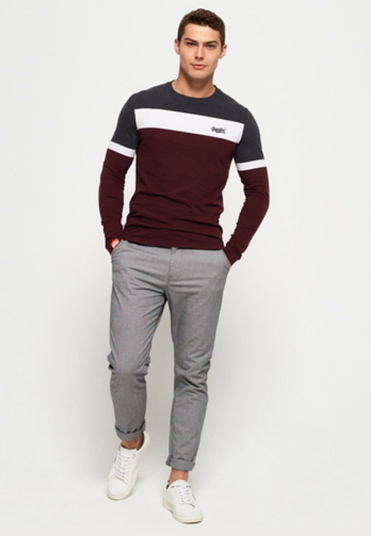 Superdry - ORANGE LABEL - T-shirt à manches longues - minted burgundy red