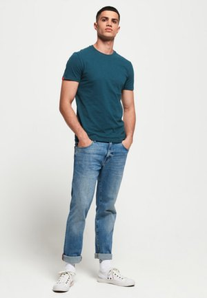 VINTAGE EMBROIDERY  - T-shirt basic - blue bottle