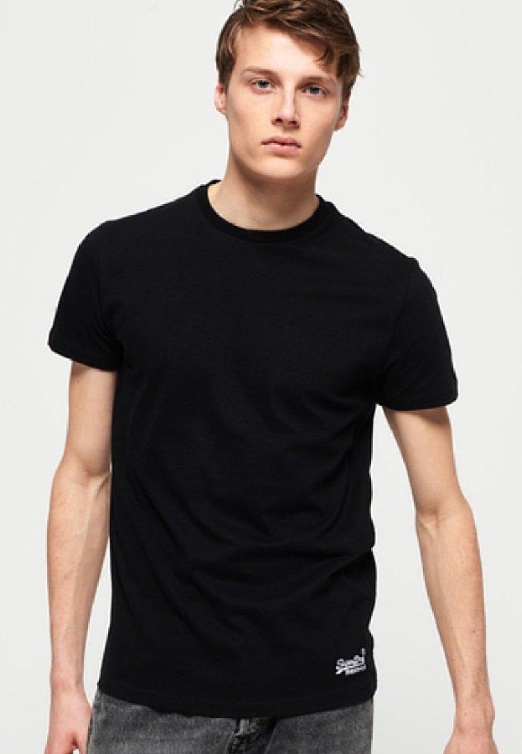 Superdry - VINTAGE EMBROIDERY  - T-shirt basique - black