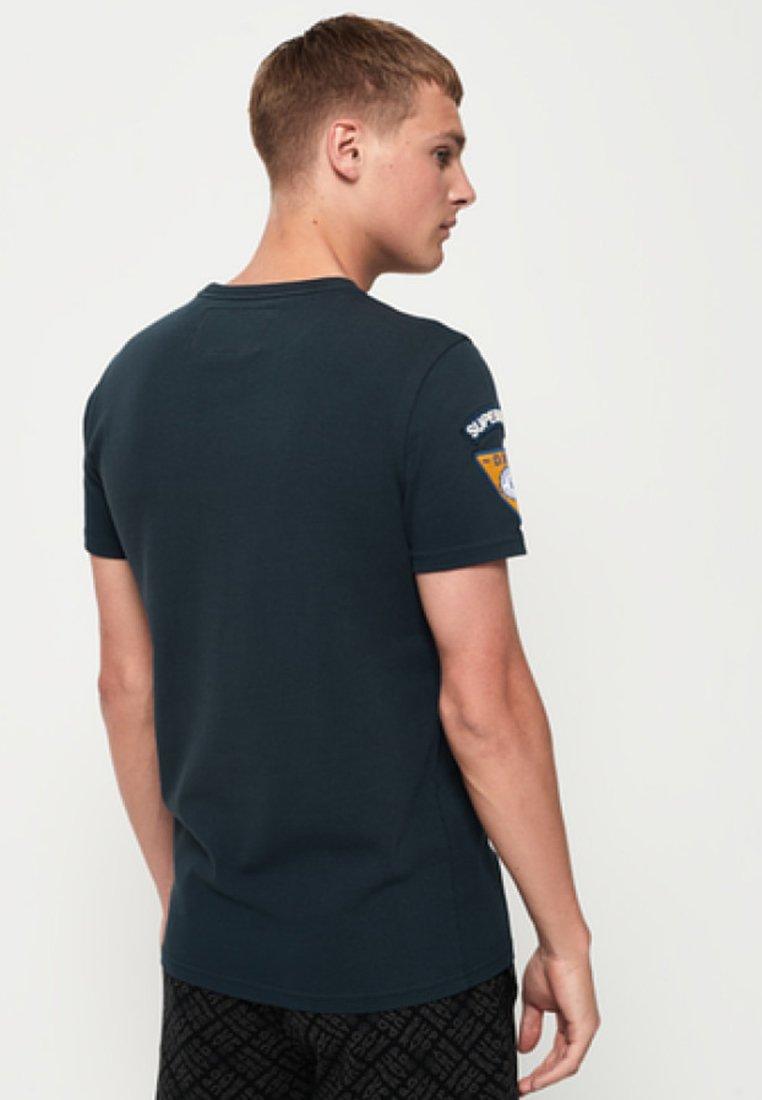shirt Blue T Superdry ImpriméDark T shirt Superdry PO80nwk