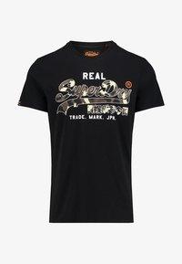 Superdry - VINTAGE - T-shirt imprimé - black - 0