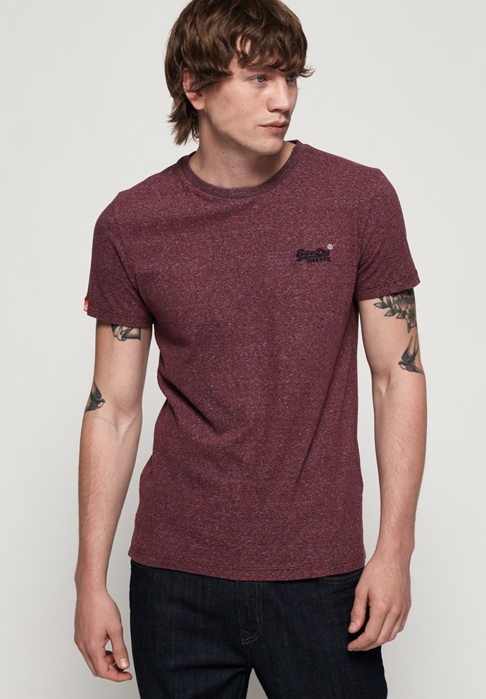 Superdry T-shirt z nadrukiem - red