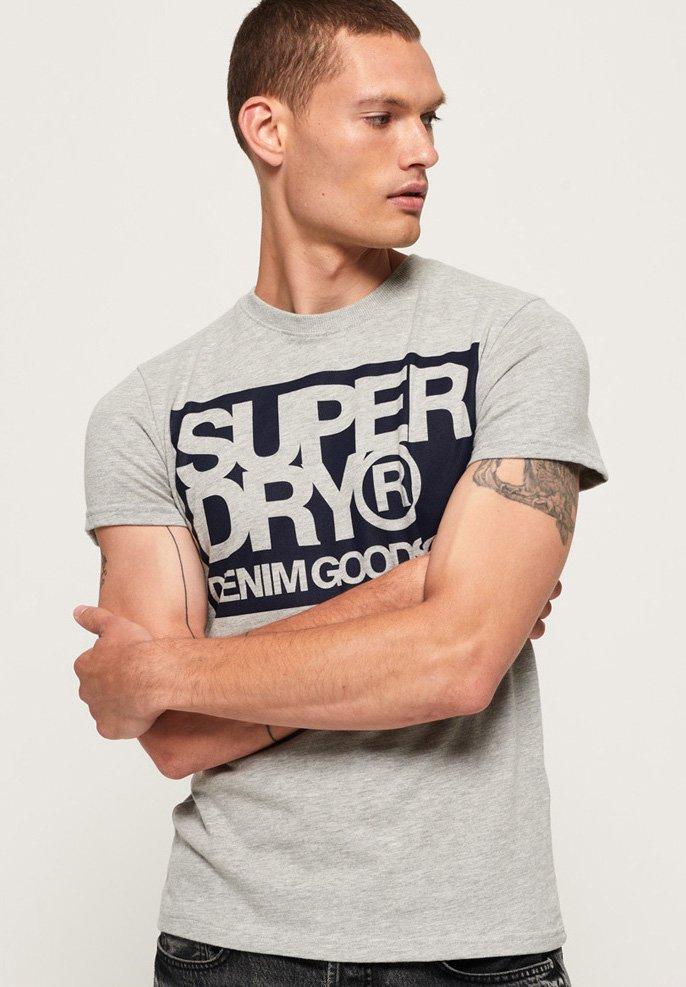 Denim Goods Imprimé Grey Superdry CoT shirt mn0vNw8O