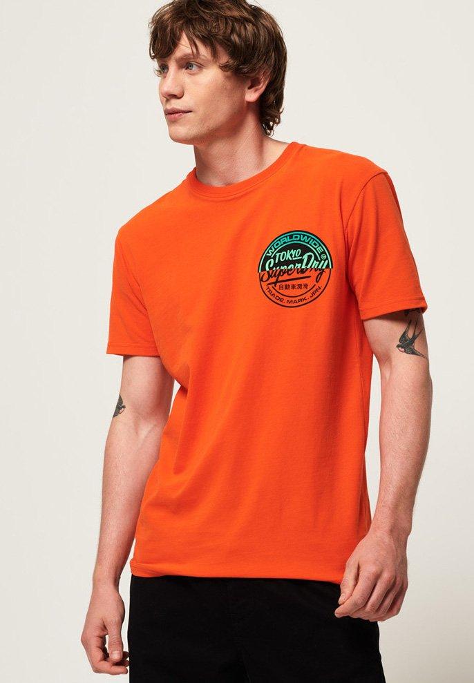 Superdry - TICKET - T-Shirt print - orange