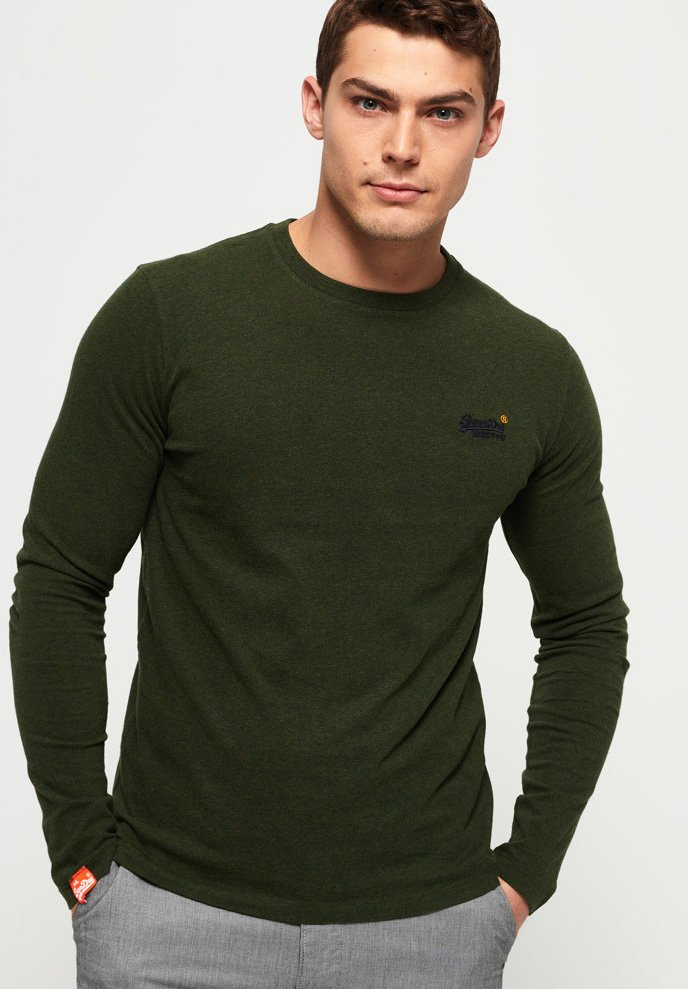 Superdry - Long sleeved top - khaki