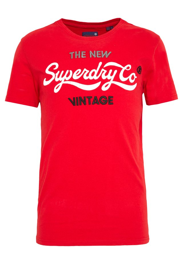 NEW VINTAGE - T-shirt print - surf red