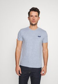 Superdry - LABEL VINTAGE TEE - Camiseta básica - flint blue grit - 0